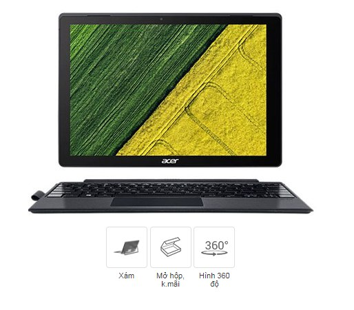 Laptop giảm giá  Acer Switch 5 SW512 52P 34RS i3 7130U/4GB/128GB/Touch/Pen/Win10 (NT.LDTSV.004)